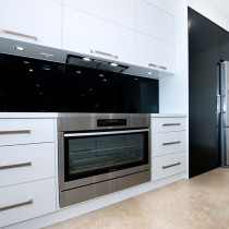 Lighting under cupboards & built in free standing oven